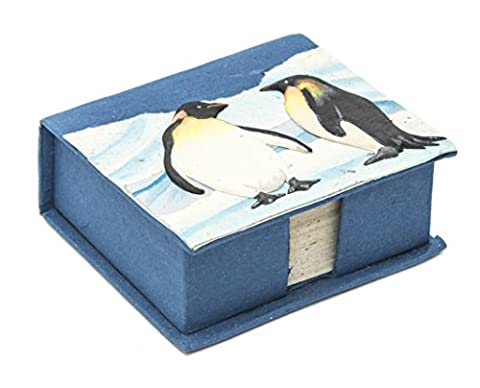Mr. Ellie Pooh Penguin Square Note Box with Notepaper, Midnight Blue (150-609132738432) - Penguin Squares