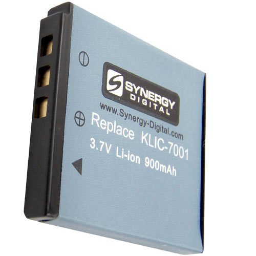 KLIC-7001 Lithium-Ion Battery - Rechargeable Ultra High Capacity (900 mAh) - replacement for Kodak KLIC-7001 Battery