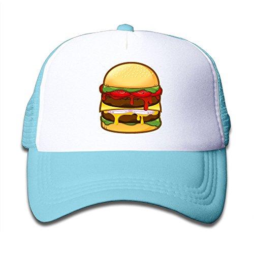 Big Boy Burger Costume (Elephant AN Big Burger Mesh Baseball Cap Kid Boys Girls Adjustable Golf Trucker Hat)