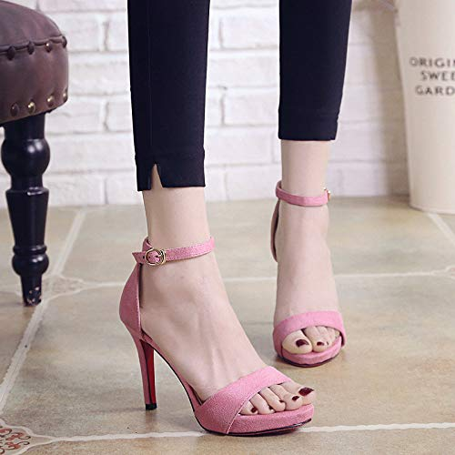 Women'S green Sandals Buckles KPHY Shoes Simple High Toe Heeled Summer And Sexy Heel Shoes Toe Joker Thin 10Cm q1ZX1wrT