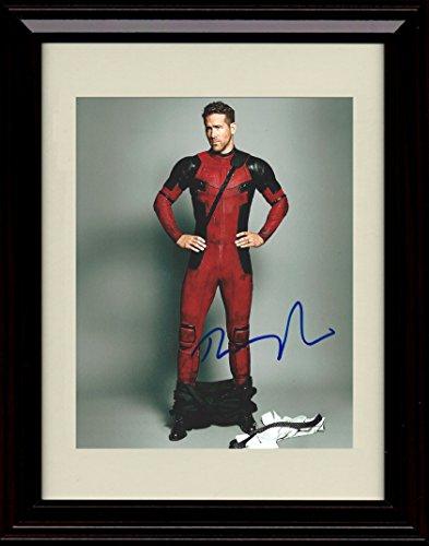 Framed Ryan Reynolds Deadpool Autograph Replica (Ryan Framed Photo)