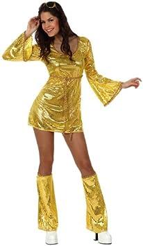 Atosa-10401 Disfraz Disco, color dorado, M-L (10401)