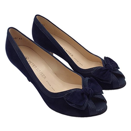 Marino Azul Toe Suede Navy Kaiser De Gamuza Satyr Peep Zapatos Elegante Peter zZ6FHqwxC