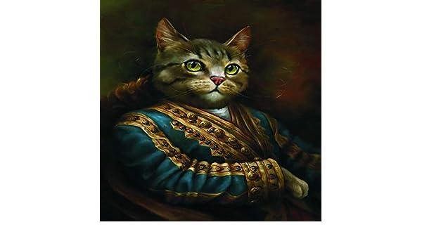 Geiqianjiumai Vintage Lienzo Pintura Obispo Retrato Gato Pared Arte impresión Foto decoración Cartel e impresión: Amazon.es: Hogar