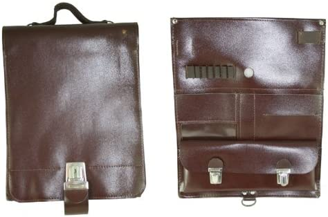 """LARGE VINTAGE CZECH LEATHER 4 POCKET MAG POUCH  9.5/"""" X 7/"""""""