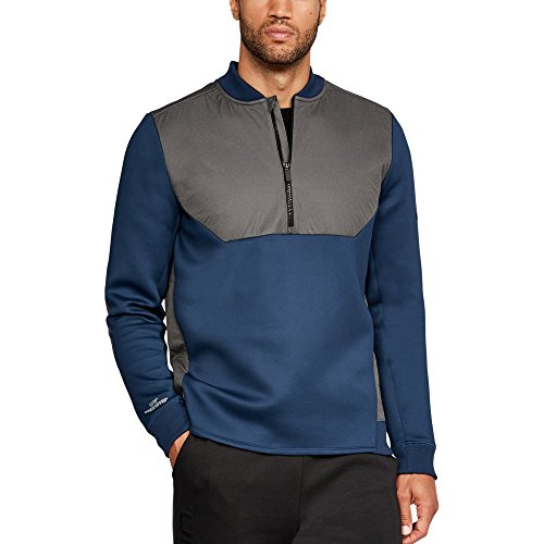 Under Armour UA Unstoppable Gore Windstopper ½ Zip LG Nighttime Blue ()