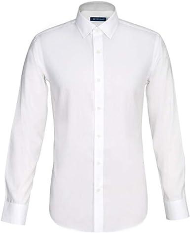 Camisa Blanca De Algodón Antiarrugas Antiarrugas Camisa Blanca De Hombre De Manga Larga para Hombre Otoño Nuevo Vestido Profesional Informal De Negocios para Hombres: Amazon.es: Ropa y accesorios