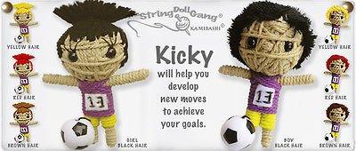 Kamibashi  Voodoo Baby String Doll Gang Good Luck Charm Kicky Girl Soccer Player Key Chain With (Charm Voodoo Dolls)