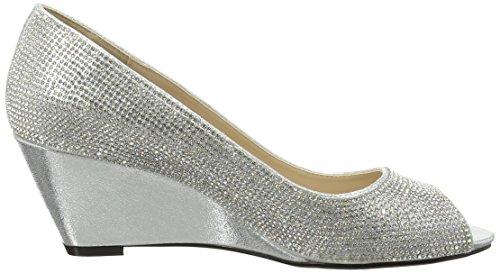 Argento N Quiz silver Spuntate Diamante Scarpe a Silver Wedges Donna qfwfFUY8x