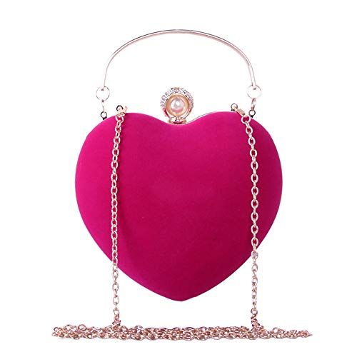 Bags Pearls Evening Rhinestone Classic Large Metal handbag Handbags Fuchsia Women'S Chain Bag Tote H Tote Purple Capacity Cross Wine QZTG Body 4wqnCgpxx