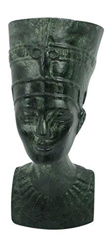Egyptian Queen Nefertiti Bust Miniature Statue 2.5 Inches Tall Jade