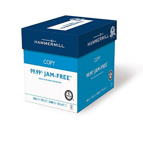 Hammermill Printer Paper, Copy Paper, 20lb, 8.5 x 11, Letter, 92 Bright - 2400 Sheets / 6 Ream Case (150200C)