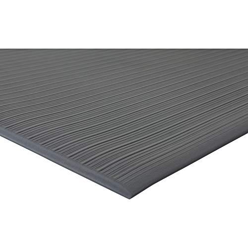 Genuine Joe Air Step Anti-Fatigue Mat - Warehouse - 60quot; Length x 36quot; Width x 0.38quot; Thickness Overall - Vinyl - Black