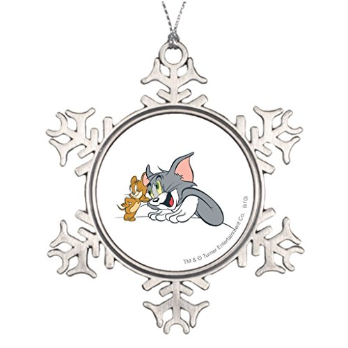 Grayby Personalised Christmas Tree Decoration Tom Blank One size (Tom And Jerry Centerpiece)