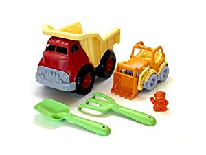Green Toys Sand & Water Play Dump Truck with Scooper