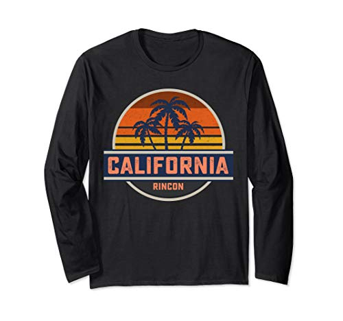 Retro California Rincon Point Shirt Surf Vintage Beach Gift Long Sleeve T-Shirt