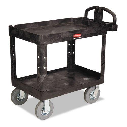Bla 2 Shelf Utility Cart (Rubbermaid Commercial Heavy-Duty Utility Cart RCP 4520-10 BLA)