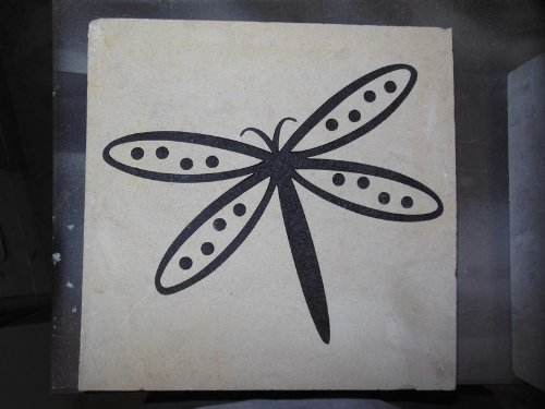 Sandblast Engraved Natural Stone Decorative Stepping Stone Inspirational