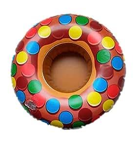 6PCS Color Dot Donut Floating Cup holder