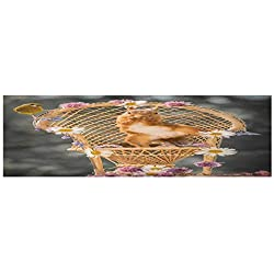 Fish Tank Background Decor Static Image Backdrop Wallpaper Sticker Cling Decals red squirrel stand in a chair with flowers and finch around look in the lens Wallpaper Sticker Background Decoration L2