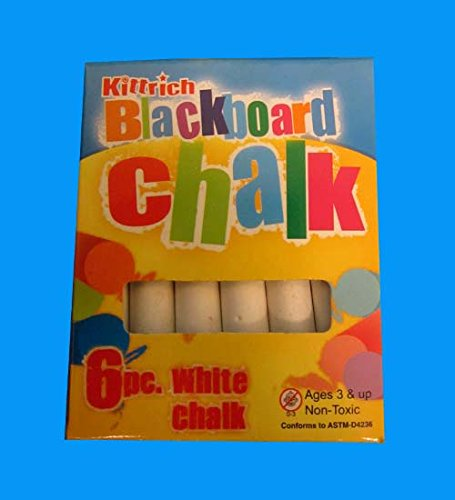 6PC. Kittrich White Chalk, Case of 144 by DollarItemDirect