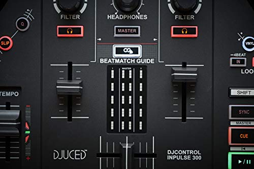 Hercules DJControl Inpulse 300 | 2 Channel USB Controller, with Beatmatch Guide, DJ Academy and full DJ software DJUCED…