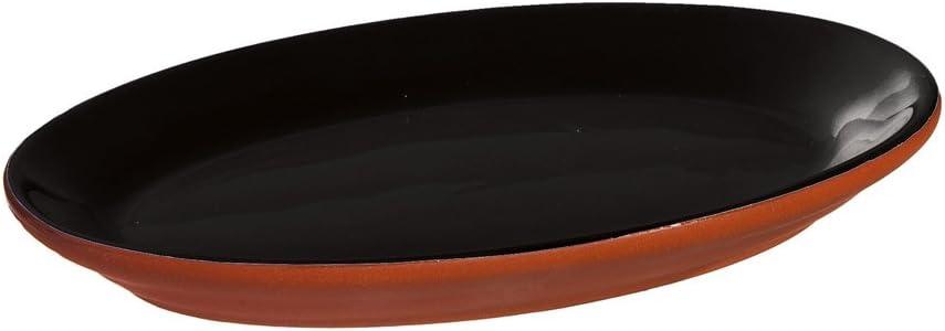 Black Dipped Terra Cotta Appetizer Plate