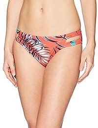 Mae Womens Standard Swimwear Double Strap Hipster Classic Coverage Bikini Bottom