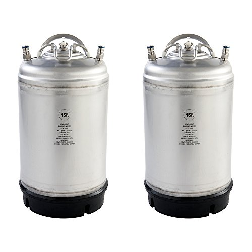 Two New 3 Gallon Ball Lock Kegs - Single Handle + Free O-Ring Kit