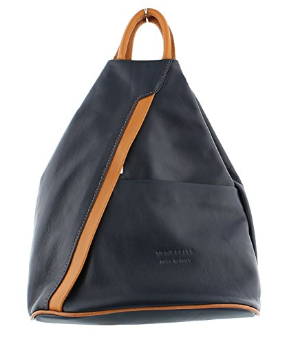 Soft Rucksack Shoulder Leather F264 Leather Soft Navy Backpack Handbag CrqPSCw