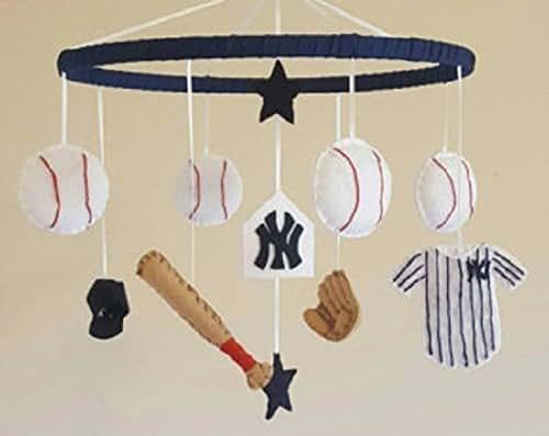 Yankees Baseball Baby Mobile
