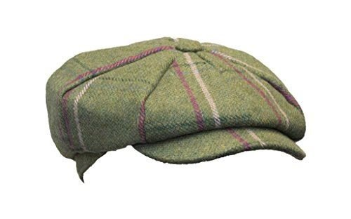 Walker   Hawkes - Ladies Tweed Bakerboy Style Country Cap - Pink Stripes -  XS ( 44fa04f0bfc