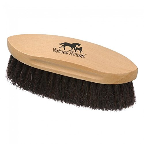 Tough 1 The Greatest Horse Hair Real Horse Hair Soft Velvet Brush with Oval Base