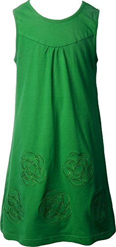 Ipuang Girls' Flower Dress Casual Embroidered Green 14 (Dress Sales Australia)
