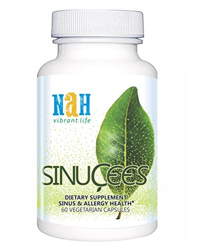(SINUCEES Sinus Support. Breathe Easy, Sinus Congestion Relief. Natural Non Drowsy Antihistamine for Seasonal Allergies, Mucus Relief. Butterbur Stinging Nettle Quercetin Bromelain Curcumin)