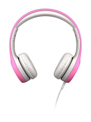 LilGadgets Connect+ Kids Premium Volume Limited Wired Headphones with SharePort (Children, Toddlers) - Pink ()
