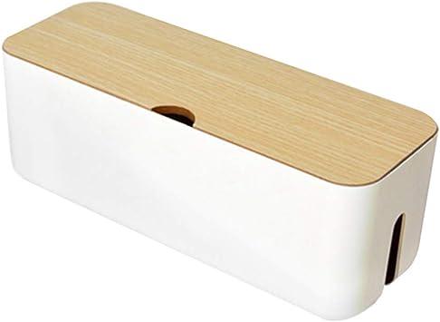 CviAn - Caja oculta de cables para ocultar sobretensiones, organizador de cables, blanco: Amazon.es: Bricolaje y herramientas