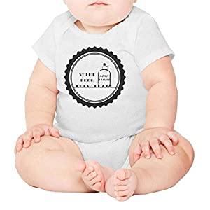 WSEDRF Funny Beer Short Sleeve Onesies for Baby Girl