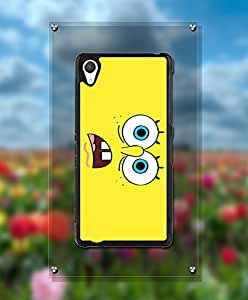 Cartoon Spongebob Squarepants Funda Case For Sony Z2, Unique Style Magnetic + Customized Pretty Attractive Style Tough Hard Compatible with Sony Xperia Z2 [Just fit for Z2]