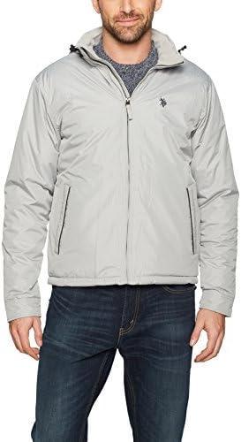 U.S Polo Assn Mens Standard Fleece Lined Pu Piped Jacket