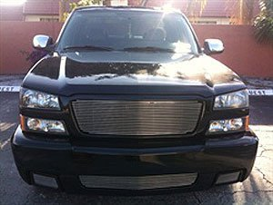 TRex Grilles 20099 Horizontal Aluminum Polished Finish Billet Grille Insert for Chevrolet (Wide Style Grille)