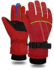 Snow Gloves for Kids - Kids Waterproof Gloves Warm Windproof Girls Boys Winter Gloves kids Mittens Winter Waterproof