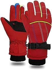 Snow Gloves for Kids - Kids Waterproof Gloves Warm Windproof Girls Boys Winter Gloves kids Mittens Winter Wate