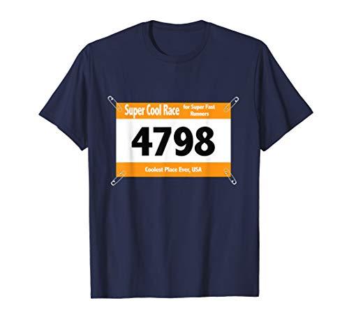 Runner Funny Halloween Costume T-Shirt Racing Bib ()