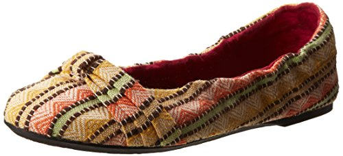 KEEN Women's Cortona Bow Canvas Ballet Flat,Burnt Orange,7.5