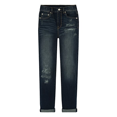 - Levi's Girls' Big Girlfriend Fit Jeans, Blue Asphalt, 12
