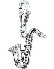 Nenalina Plata Charm Colgante saxófono para Collares y Pulseras para Mujer 713117-000