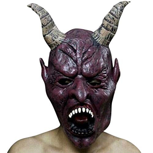 Amaping 22 Selection Choice Halloween Creepy Bloody Face Off Horror Scary Halloween Cosplay Costume Mask (Scary T)