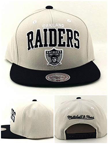 Mitchell And Ness Oakland Raiders Arch Grey Snapback Cap