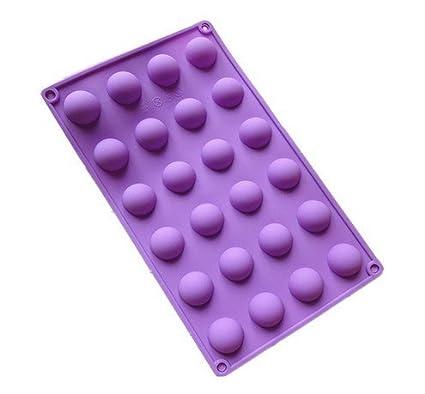neaer bandeja de hielo molde para hornear moldes 24 Cavidad Mini media esfera molde de silicona